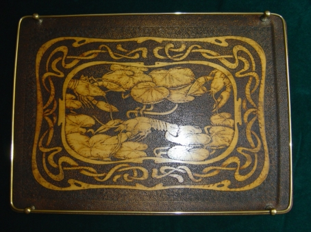 Art Nouveau Poker-Work Tray