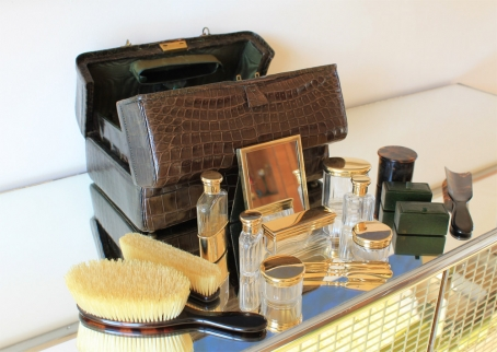Crocodile Leather Travelling Dressing Case