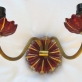 Pair of 1940s Red Glass Wall Sconces