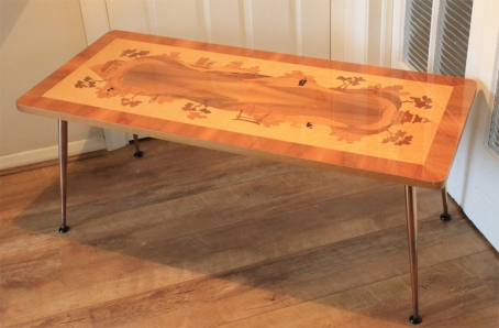 1950s Marquetry Occasional Table