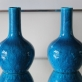 Longwy earthenware vases