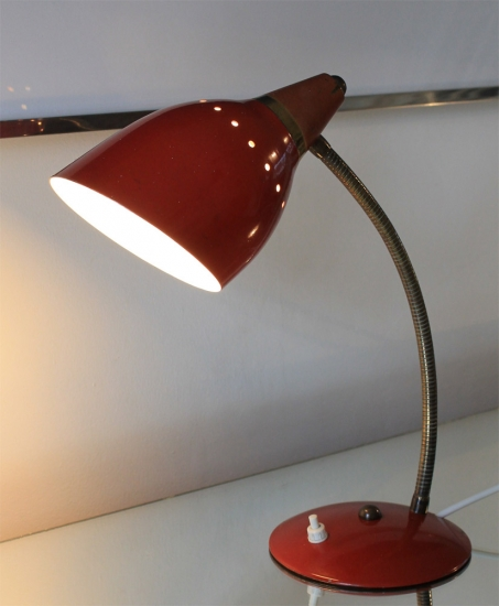 Red Flexible Desk Light